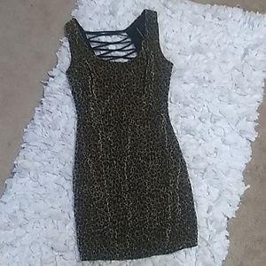 Symphony Open Back Leopard print dress